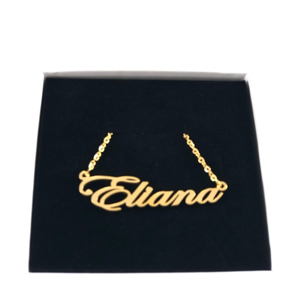 14K Gold Plated Name Necklace - Eliana NWT